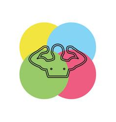 sportsman icon vector image
