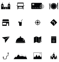 tourism icon set vector image