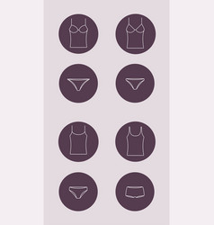 underwear icon top and panties vector image