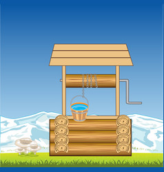 Well with water vector