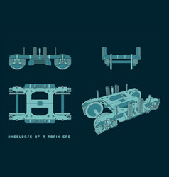 wheelbase a train car vector image