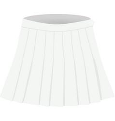 white pleated skirt vector image