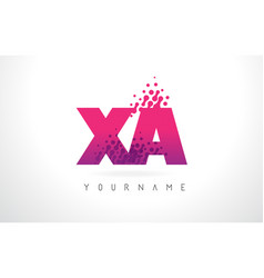 Xa x a letter logo with pink purple color and vector