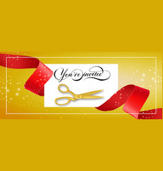 You are invited glittering banner design with vector