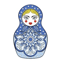 Zentangle stylized elegant Russian doll vector image
