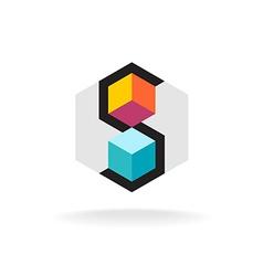Letter S 3D logo vector image vector image