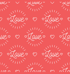 Love text pattern seamless valentines background vector