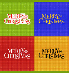 merry christmas typographic with glitter disco vector image vector image
