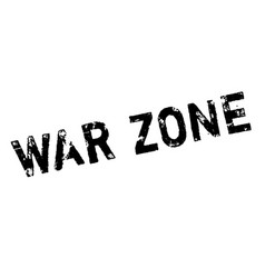 War zone rubber stamp vector