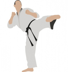 karate sportsman vector image