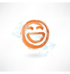 laugh grunge icon vector image