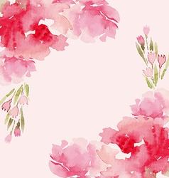 Peonies watercolor vector image