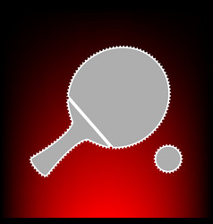 ping pong paddle with ball vector image
