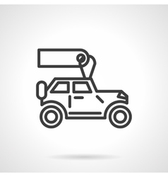 Automobiles for rent black line icon vector image vector image