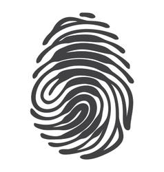 Fingerprint with keyhole shape vector