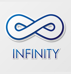infinity symbol with text vector image