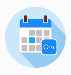 key calendar day icon vector image