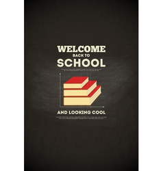 school poster books vector image