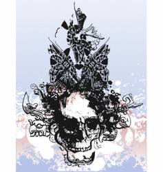 witch skull grunge illustration vector image vector image