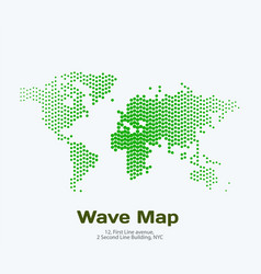 World map with rounds spots dots for vector