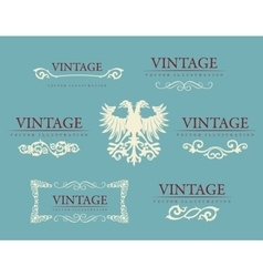 Calligraphic design elements Baroque vintage set vector image