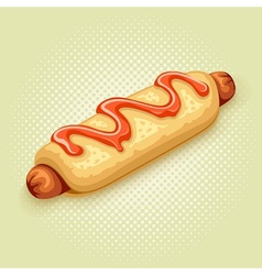 hot dog vector image vector image