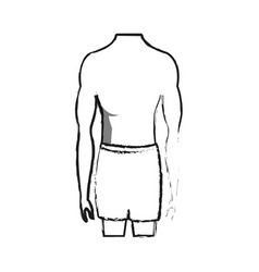 male torso fit body icon image vector image vector image
