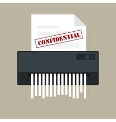 paper shredder confidential icon and private vector image