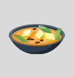 soup plate in bowl isolated on white background vector image