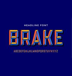 3d modern font colorful modern alphabet and 3d vector