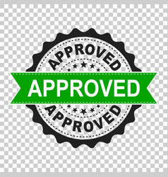 Approved seal stamp icon approve accepted badge vector