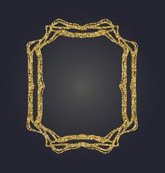 art nouveau gold glitter frame art deco border vector image