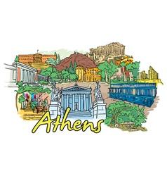 Athens doodles vector