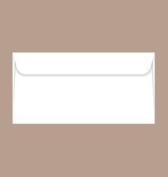 Back side dl envelope mockup realistic style vector