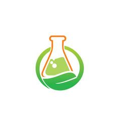 bio organic lab logo vector image vector image