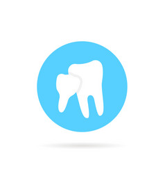 blue icon family dentistry isolated on white vector image