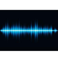 Blue sound waveform with hex grid light filter vector