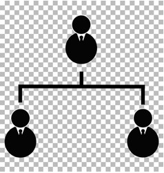 business hierarchical icon on transparent vector image