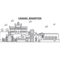 canada brampton architecture line skyline vector image