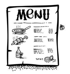 Cartoon image of menu icon vector