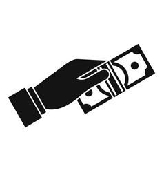 cash money icon simple style vector image