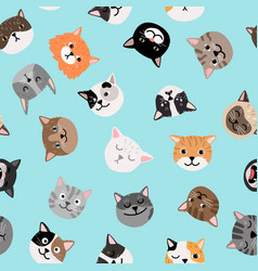 cats characters pattern vector image
