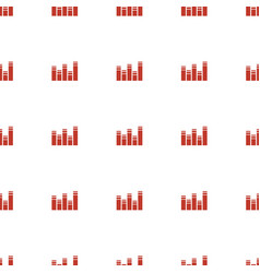 chart icon pattern seamless white background vector image