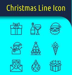 christmas line icon vector image