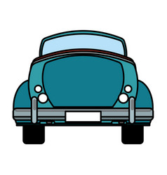 Classic car travel image vector