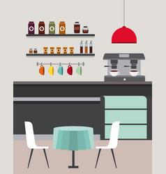 coffee shop interior vector image