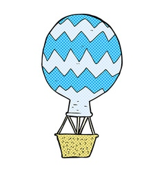 Comic cartoon hot air balloon vector