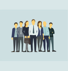 Company business group people of office clerks vector