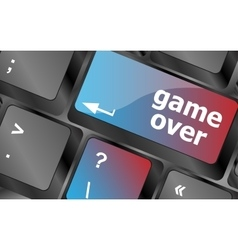 Computer keyboard with game over key - technology vector