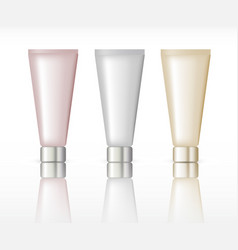 Cosmetic tube packaging vector